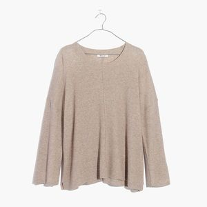 madewell northroad waffle pullover swing sweater